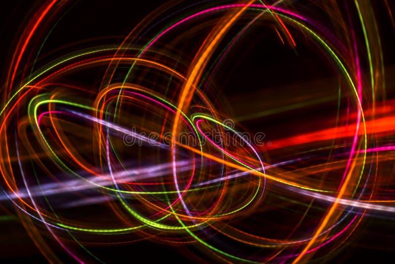 Zamazana abstrakt linia od DOWODZONEGO światła ilustracja wektor
