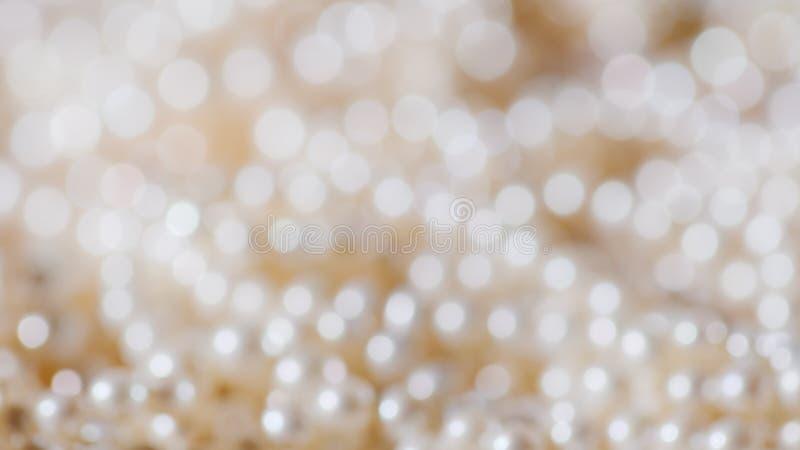 Zamazana biżuteria Kolia istne wyborowe biel perły fotografia stock