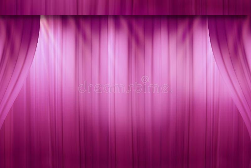 Zamazana czerwona zasłona na scenie w teatrze obrazy royalty free