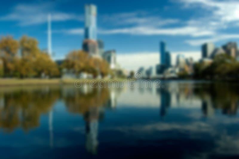 Zamazana miasto linia horyzontu (Melbourne) obraz royalty free