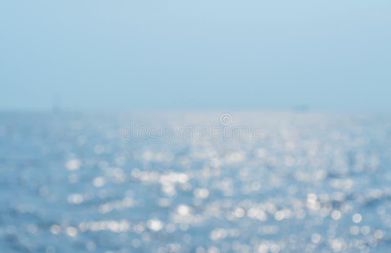 Zamazane morze fala zdjęcia royalty free