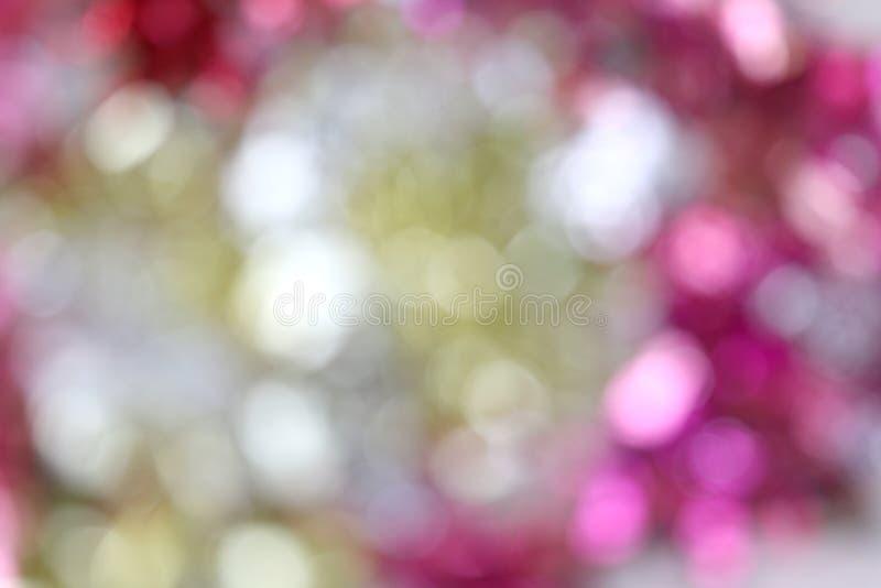 Zamazanego kolorowego bokeh światła abstrakcjonistyczny tło, abstrakcjonistycznego bokeh światła połysku koloru wielo- plama dla  obraz royalty free