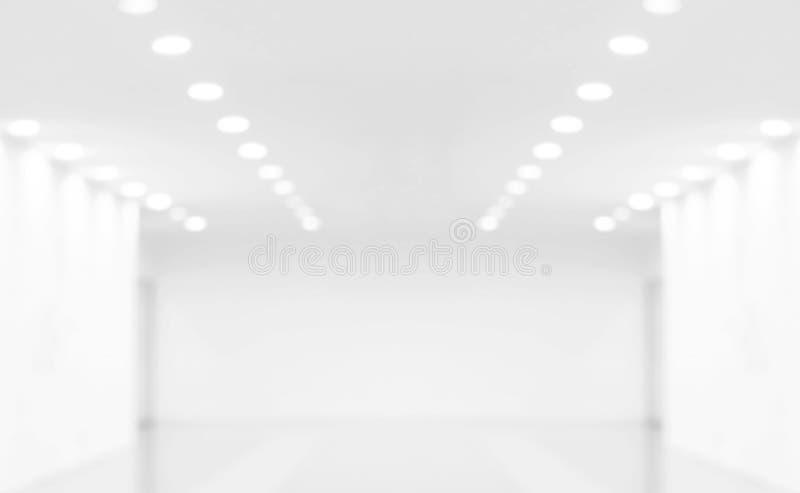 Zamazanej tło izbowej sala nowożytny biały puste miejsce, Pusty sala plamy pokój zdjęcia royalty free