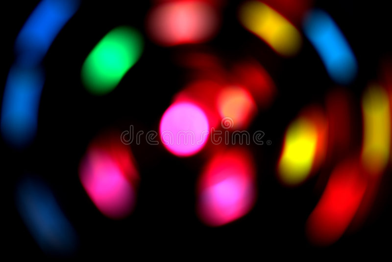 zamazani światła fotografia stock