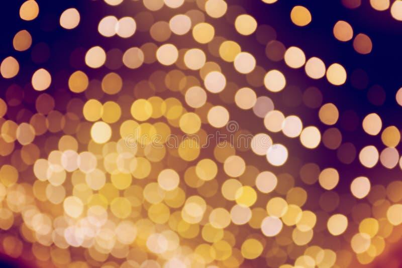 Zamazani światła jako Bożenarodzeniowy tło fotografia royalty free