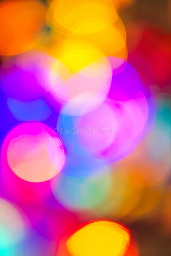 Zamazani Bożonarodzeniowe światła obrazy stock