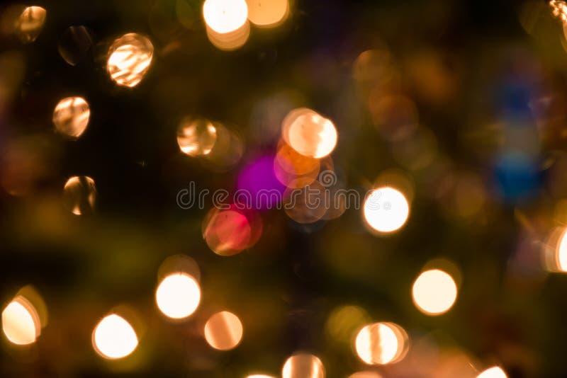 Zamazani bożonarodzeniowe światła zdjęcie stock