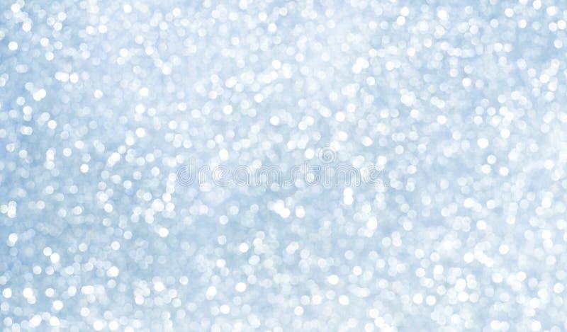 Zamazany Błękitny Biały tło z Bokeh okręgami obrazy royalty free