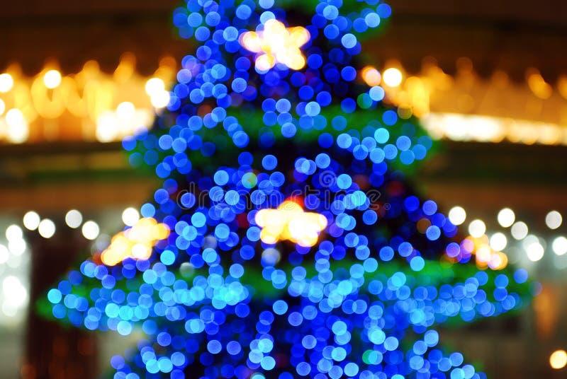 zamazany Bożego Narodzenia drzewo obraz royalty free
