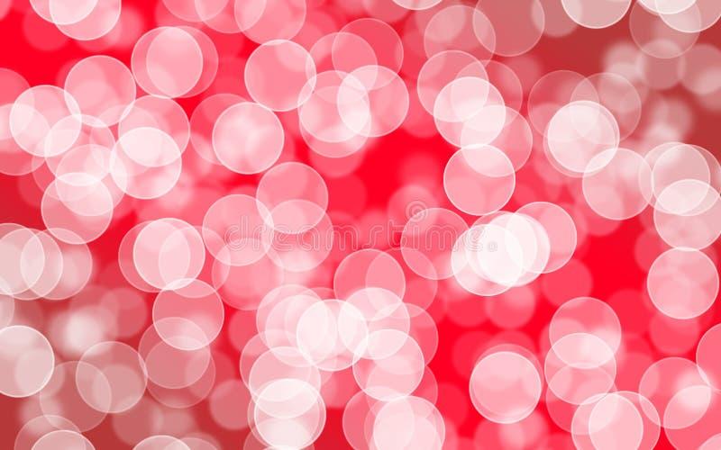 Zamazany bokeh z abstrakcjonistycznym czerwonym tło układu projektem, sieci te obrazy royalty free