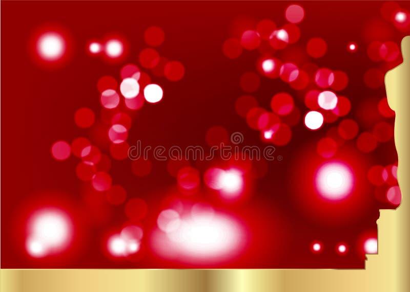 Zamazany czerwony tło z złotą statuy sylwetką Nagrody filmowa ikona w mieszkanie stylu Złocista sylwetki statuy ikona filmy ilustracja wektor