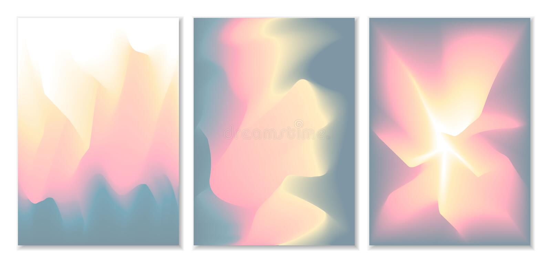 Zamazany falisty abstrakcjonistyczny futurystyczny miękki koloru przepływ mieszał gradientowych tła ilustracji