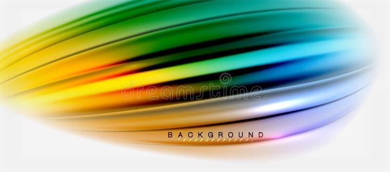 Zamazany fluid barwi tło, abstrakt fala linie, wektorowa ilustracja ilustracji