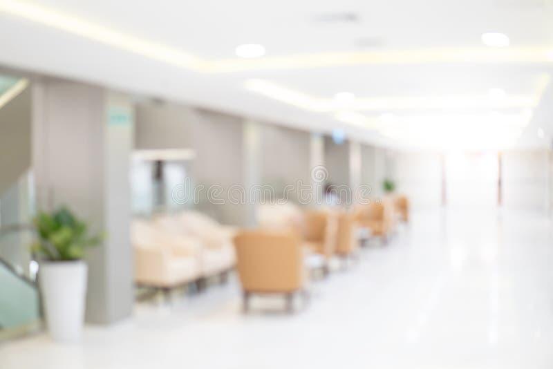 Zamazany luksusowy szpitalny wewnętrzny tło zdjęcie royalty free