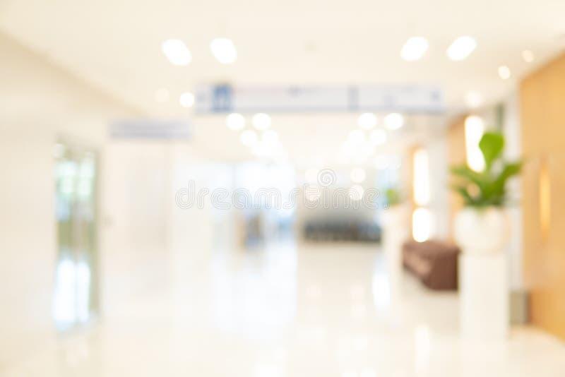 Zamazany luksusowy szpitalny wewnętrzny tło fotografia royalty free