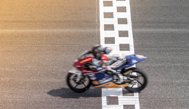Zamazany motocykl na śladzie obrazy royalty free