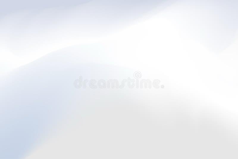 Zamazany popielatej i białej pastelowych kolorów miękkiej części fali kolorowy skutek dla tło abstrakta, ilustracyjny gradient w  ilustracja wektor