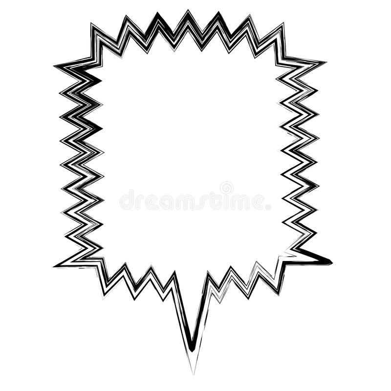 zamazany sylwetka kwadrata callout wrzask dla dialog ilustracja wektor