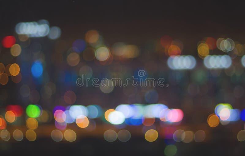 Zamazany tło nocy miasta światła obraz stock