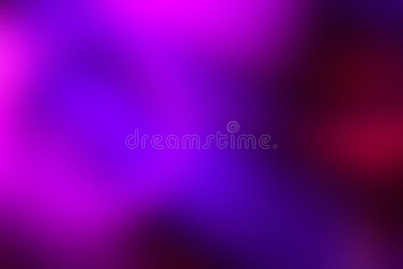 Zamazany tło w wibrujących neonowych kolorach Stubarwny rozmyty tekstura wzór dla projekta obraz royalty free