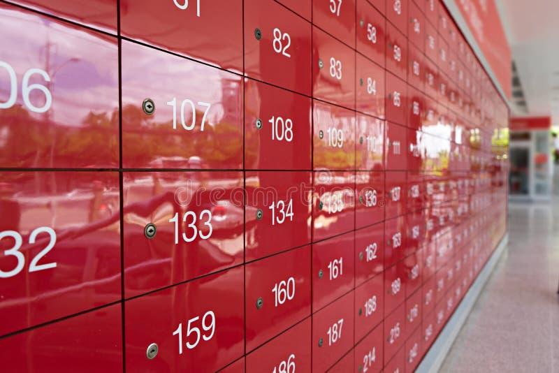 Zamazany urząd pocztowy w Tajlandia dla tła fotografia stock