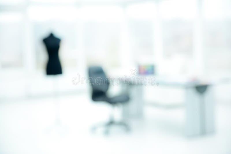 Zamazany wizerunek biuro w Atelier modzie obrazy royalty free