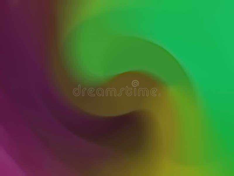 zamazujący abstrakcyjne tło Cyfrowego geometryczny styl Kolor jest lily, zieleń royalty ilustracja