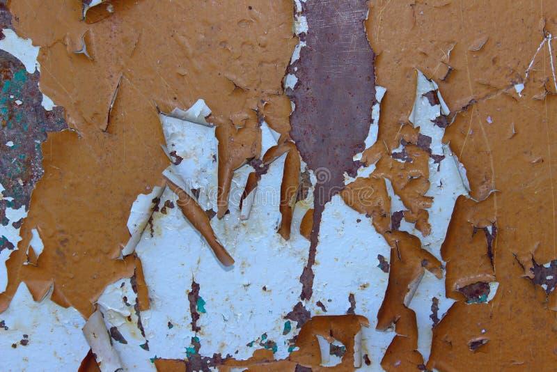 zamazuj?cy abstrakcyjne t?o maluj?ca tekstura stara tekstury ?ciany Stara farba na ścianie, Brown kolory fotografia royalty free