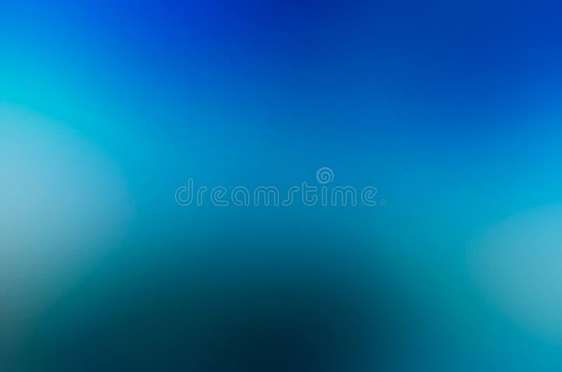 Zamazuje błękitnego abstrakcjonistycznego tło projekta zmrok - błękitny Bławy oświetlenie od kąta obraz royalty free