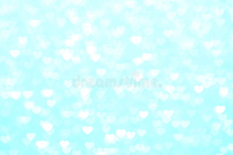 Zamazuje kierowego błękitnego tła piękny romantycznego, błyskotliwości bokeh świateł pastelowego cienia kierowy miękki błękit, ki fotografia stock