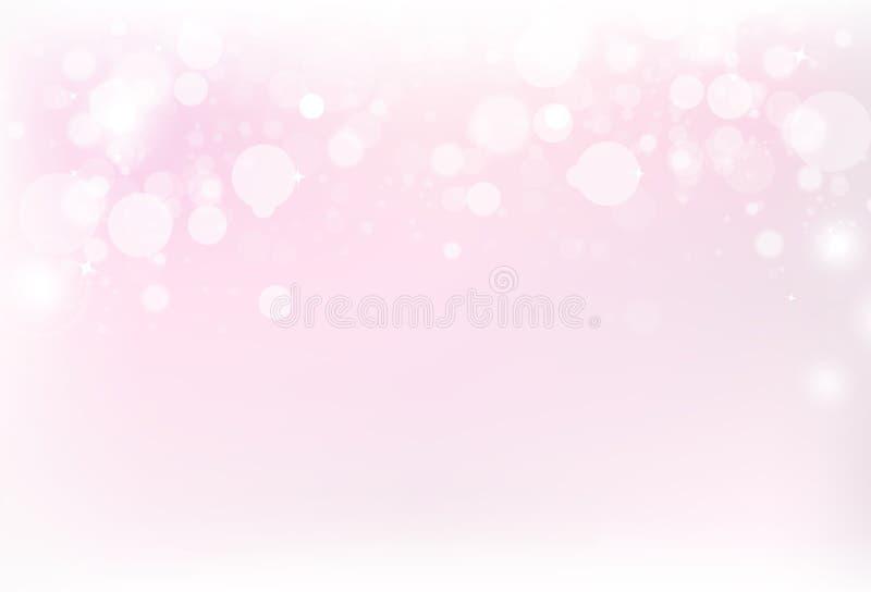 Zamazuje różową magiczną wakacyjną abstrakcjonistyczną tło wektoru ilustrację ilustracja wektor