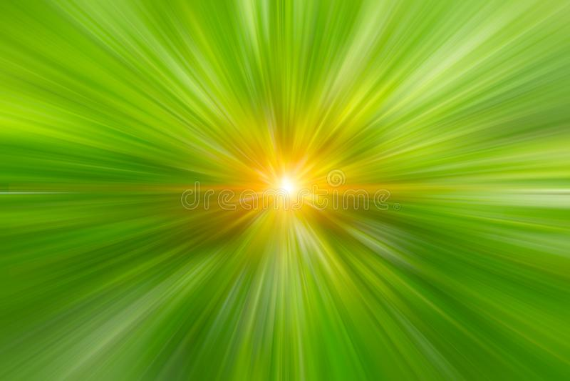 Zamazuje zielonego koloru zoomu szybkiej prędkości abstrakt dla tła obrazy stock