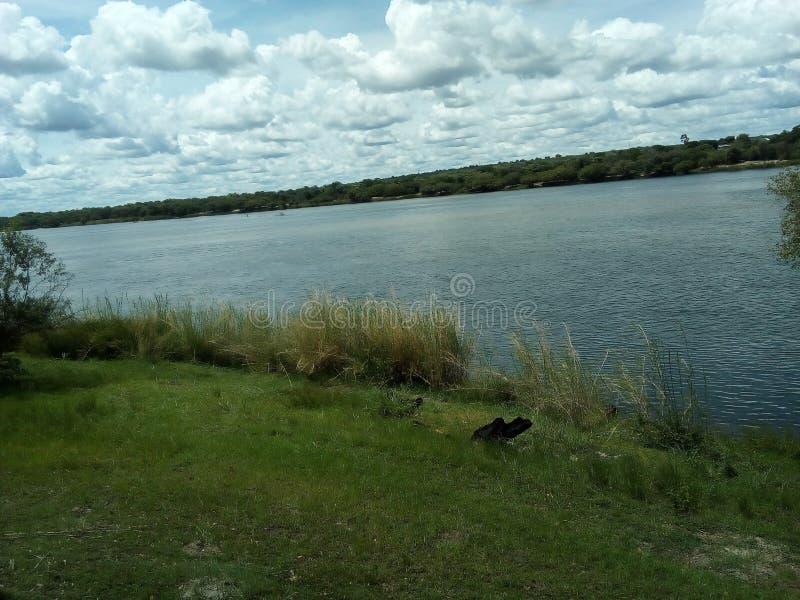 Zambezi flodstrand 2 fotografering för bildbyråer