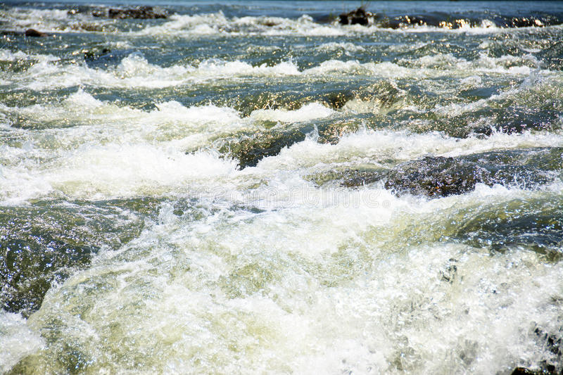 Zambezi Rapids. Mighty Waters of the Zambezi River, Zambia, Africa stock photos
