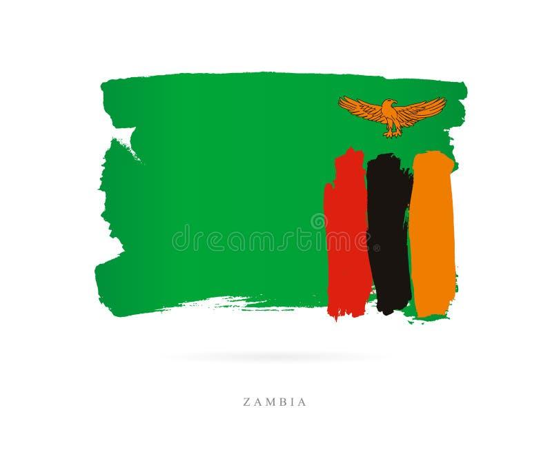 zambia bandery Abstrakcjonistyczny pojęcie