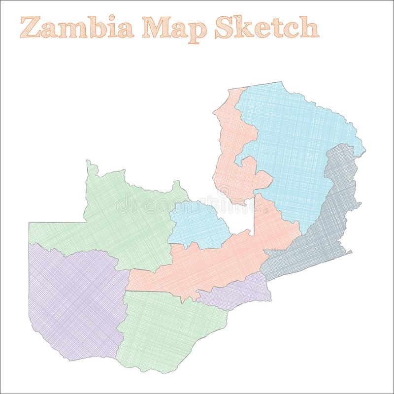 Zambia mapa ilustracja wektor