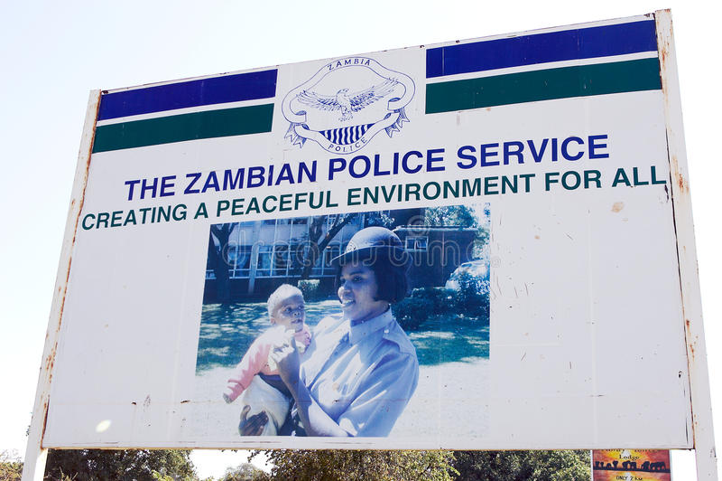 zambisk polisservice arkivfoton