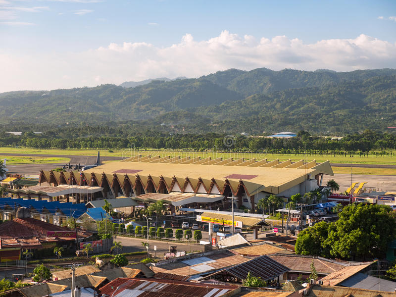Zamboanga International Airport. Zamboanga - March 1, 2017: The airport of Zamboanga, a city on Mindanao, The Philippines constantly plagued with kidnappings and royalty free stock photo