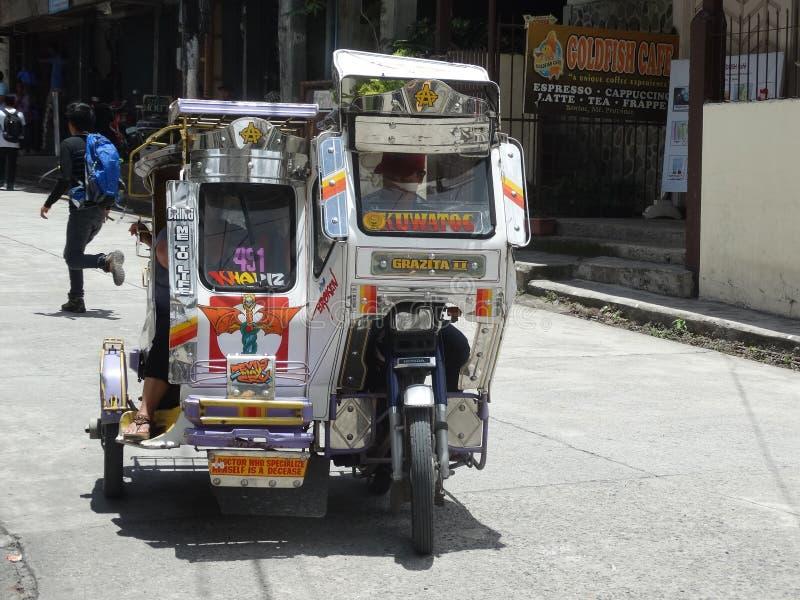Zamboanga-Straßenbild, Mindanao, Philippinen lizenzfreies stockbild