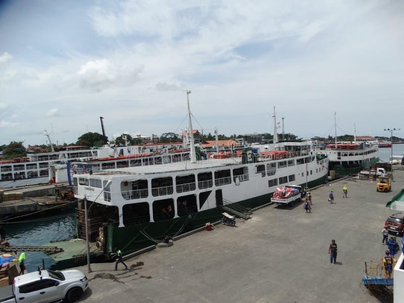 Zamboangazeehaven, Filippijnen stock afbeeldingen