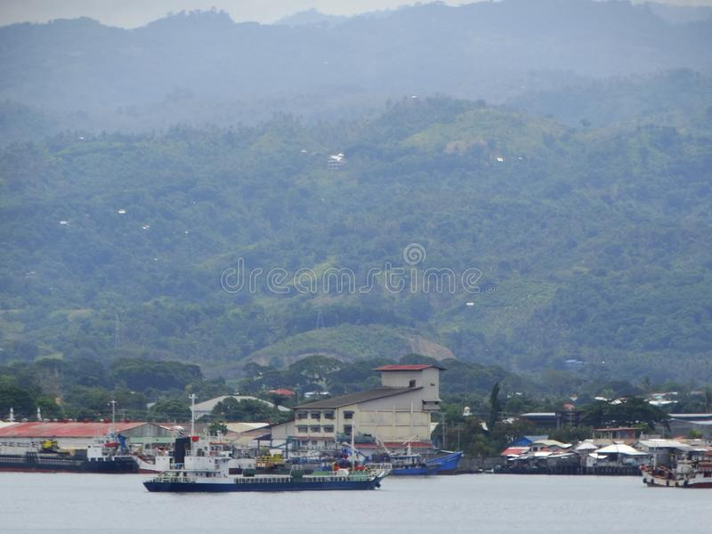 Zamboangazeehaven, Filippijnen stock foto