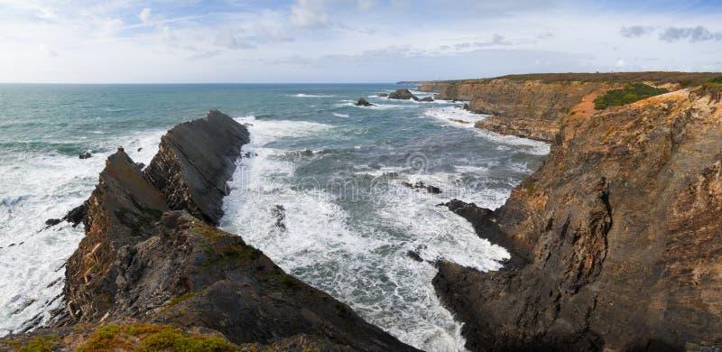 Zambujeira do Mar coastline royalty free stock image