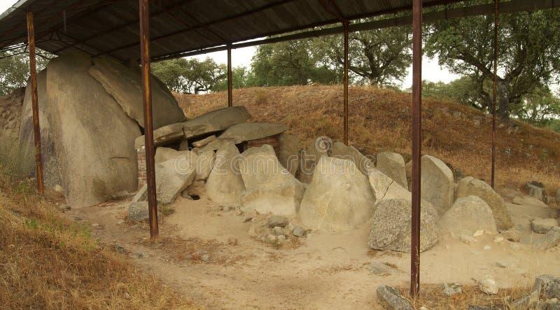 Zambujeiro dolmenu Wielka perspektywa obrazy stock