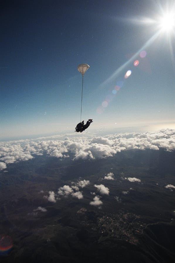 Zambullida libre del cielo de la caída imagen de archivo