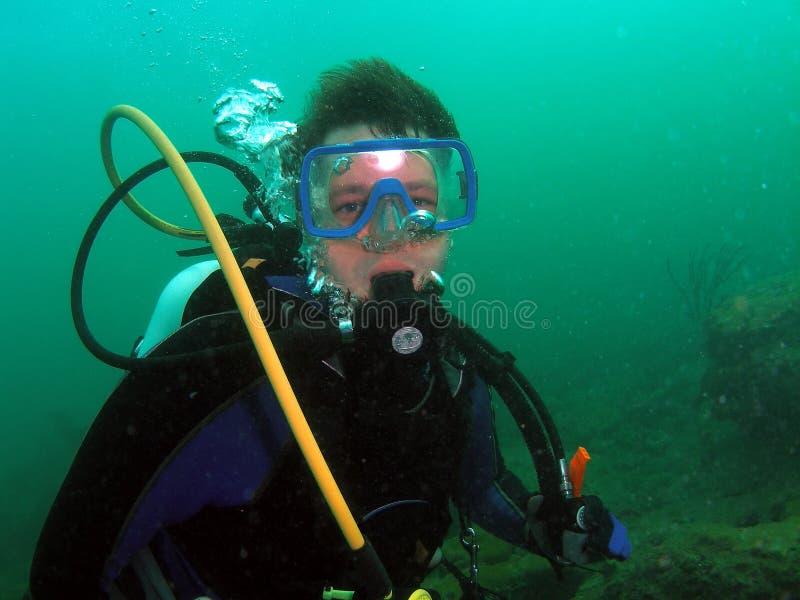Zambullidor de equipo de submarinismo fotografía de archivo