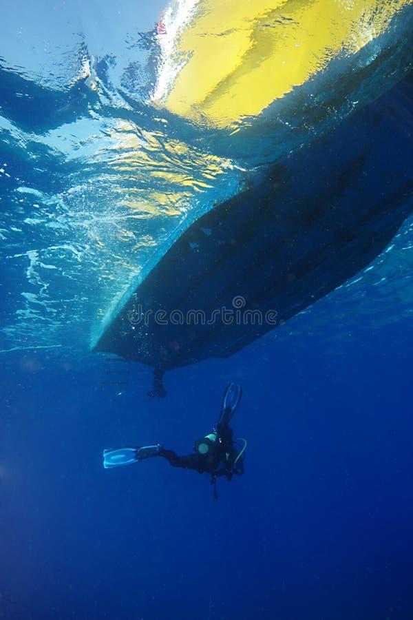 Zambullidor subacuático imágenes de archivo libres de regalías