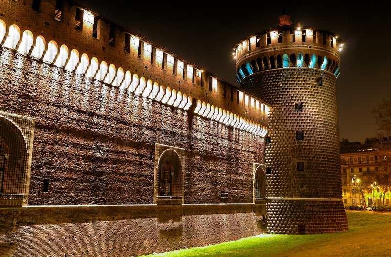 zamek średniowieczny obrazy stock