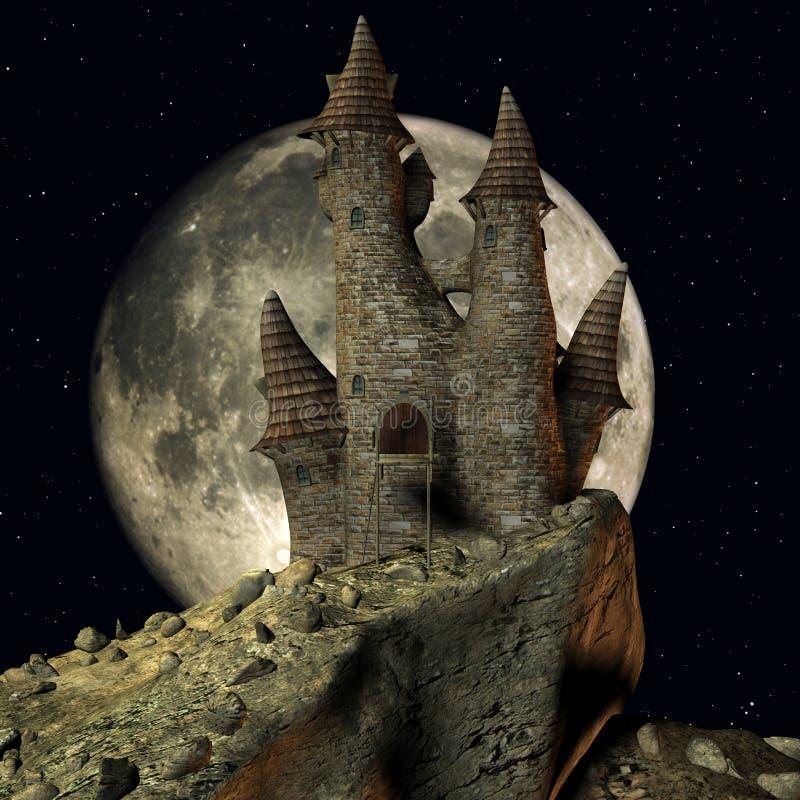 zamek średniowieczny Animowany royalty ilustracja
