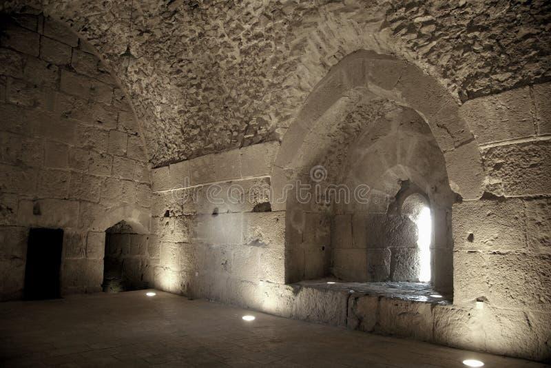 zamek ajlum Jordan obrazy royalty free