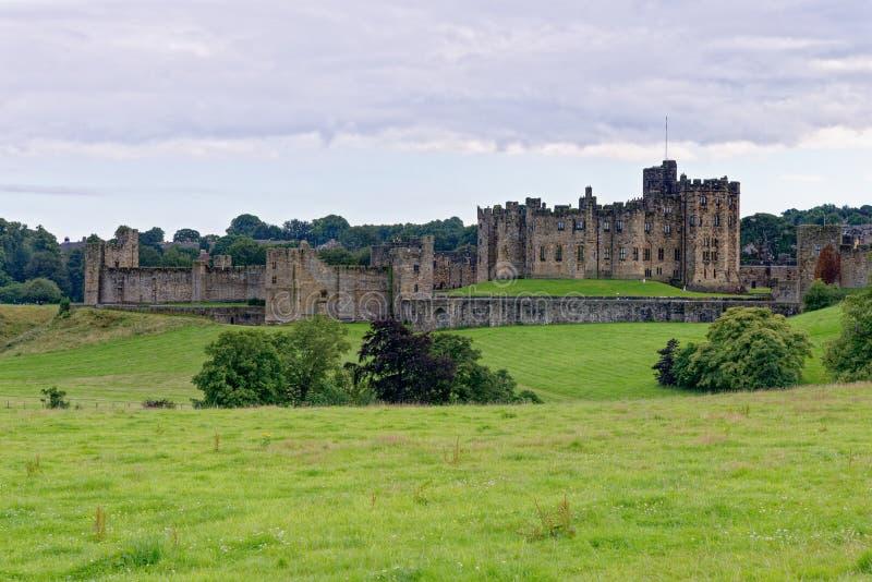 Zamek Alnwick - Northumberland - Zjednoczone Królestwo zdjęcie stock